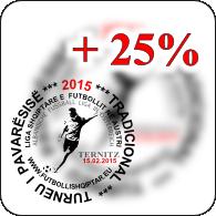 plus 25 perqind