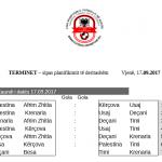Publikohet orari i ndeshjeve të radhës - 17/09/2017 / Vjenë