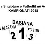 """PËRFUNDON KAMPIONATI 2018 - KAMPION EKIPI """"BESIANA"""""""