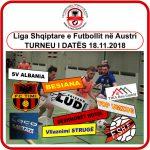"""""""SV ALBANIA"""" shton numrin e ekipeve në turneuen e futbollit të datën 18.11.2018"""