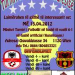 Turniri Tradicional i Pavarësisë - 15.04.2012